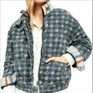 Free People Mackenzie Quilted Bomber Jacket